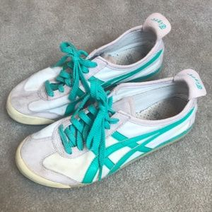 Onitsuka Tiger Sneakers Cream & Aqua